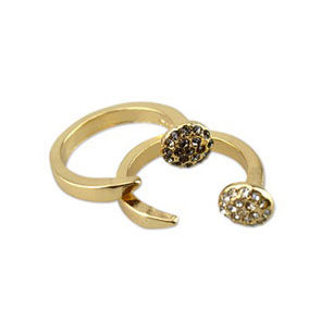 CRYSTAL NEEDLE RING - product image