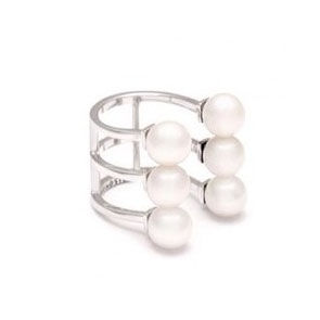 TRIPLE,LAYERS,WITH,PEARL,RING,LAYERS PEARL RING, PEARL RING