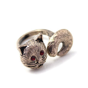 FOX,RING,FOX RING, DOUBLE FINGER RING, ANIMAL RING