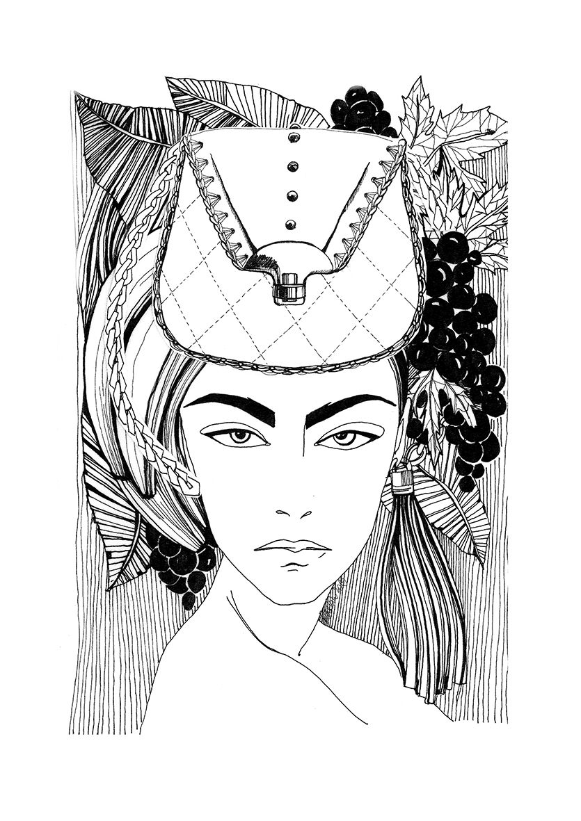 "Signed artprint "" fashion drawing for Jukocute bags collection"" - product images  of"