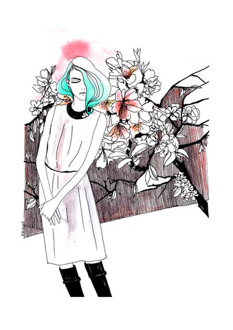Signed,artprint,-,fashion,illustration,for,IvoNikkolo,collection, print, kätlinkaljuvee, graphics