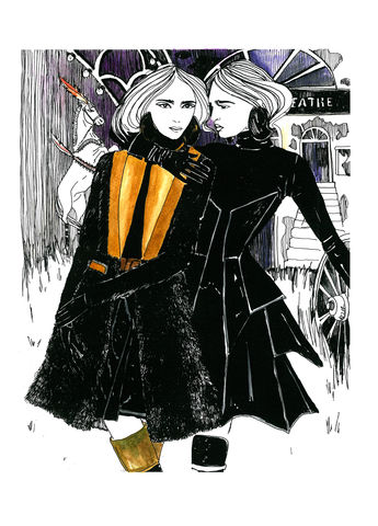 Signed,artprint,Givenchy,AW2012, print, kätlinkaljuvee, graphics, fashion illustration