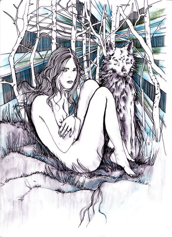Irishka,&,Wolf,print, giclee, artprint, illustration, original artwork