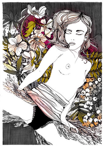 Wild,Flowers,print, giclee, artprint, illustration, original artwork