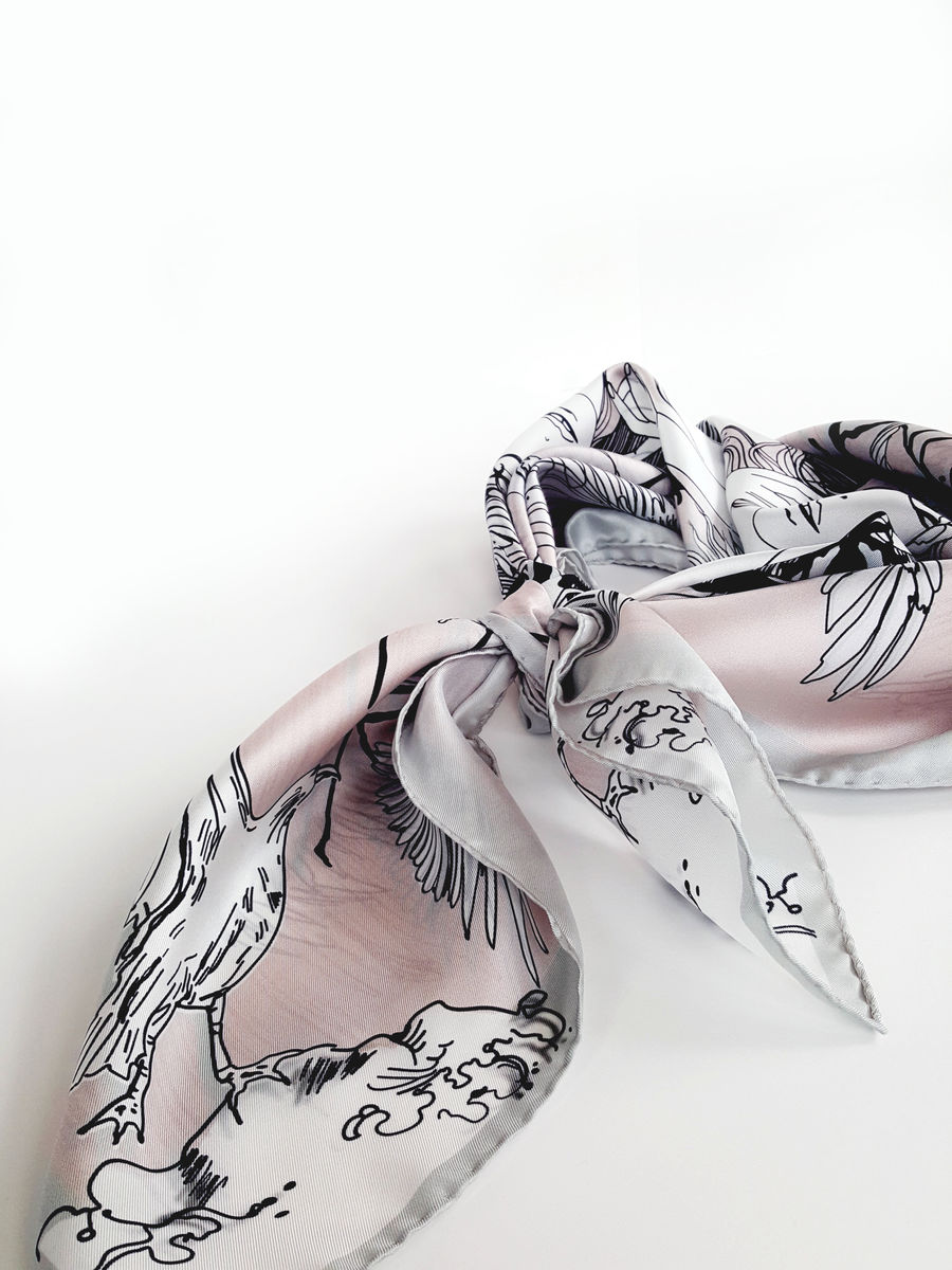 Metslinnud/Wild birds NEW limited edition silk scarf - product images  of
