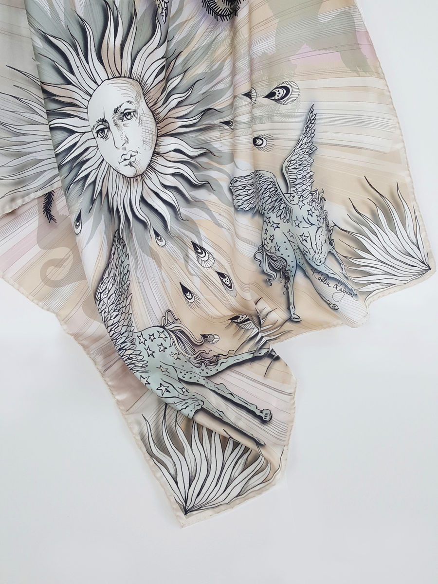 Ancient Sun limited edition silk scarf - product images  of