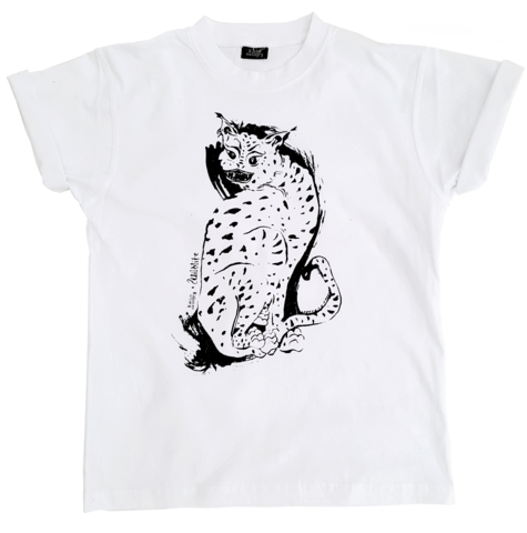 WILDLIFE,T-SHIRT,t-shirt, screenprinted shirt, wildlife, cats