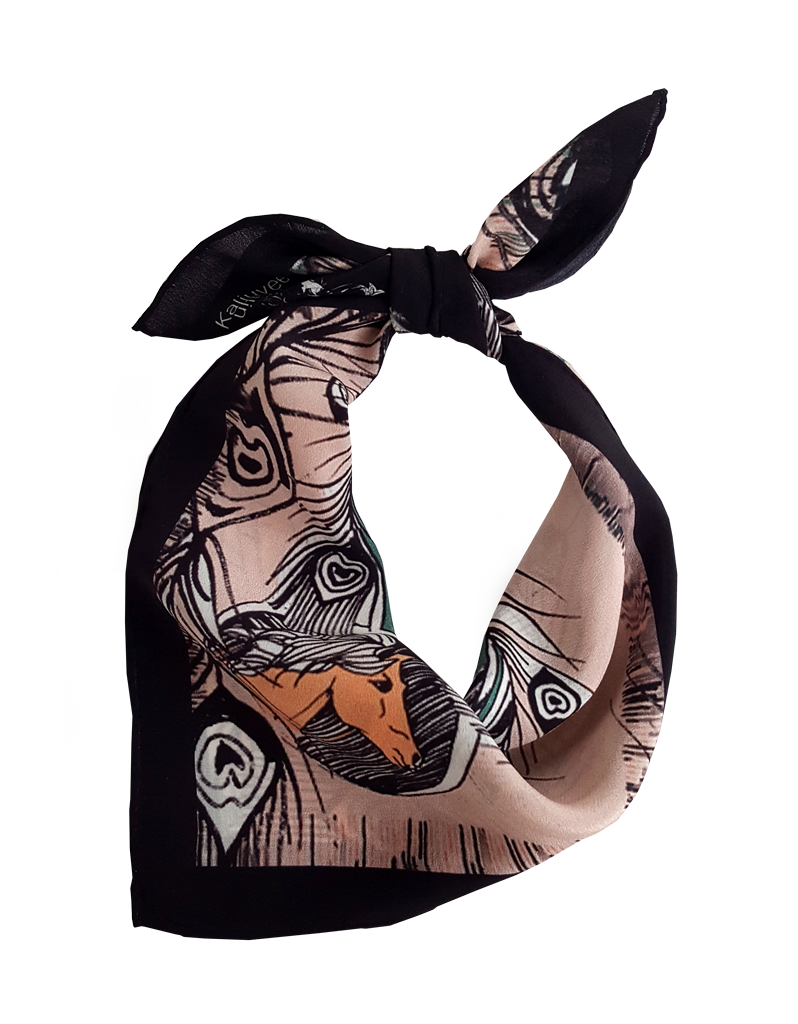 Some Paradise Where Horses Go 50x50cm Silk Scarf - product images  of