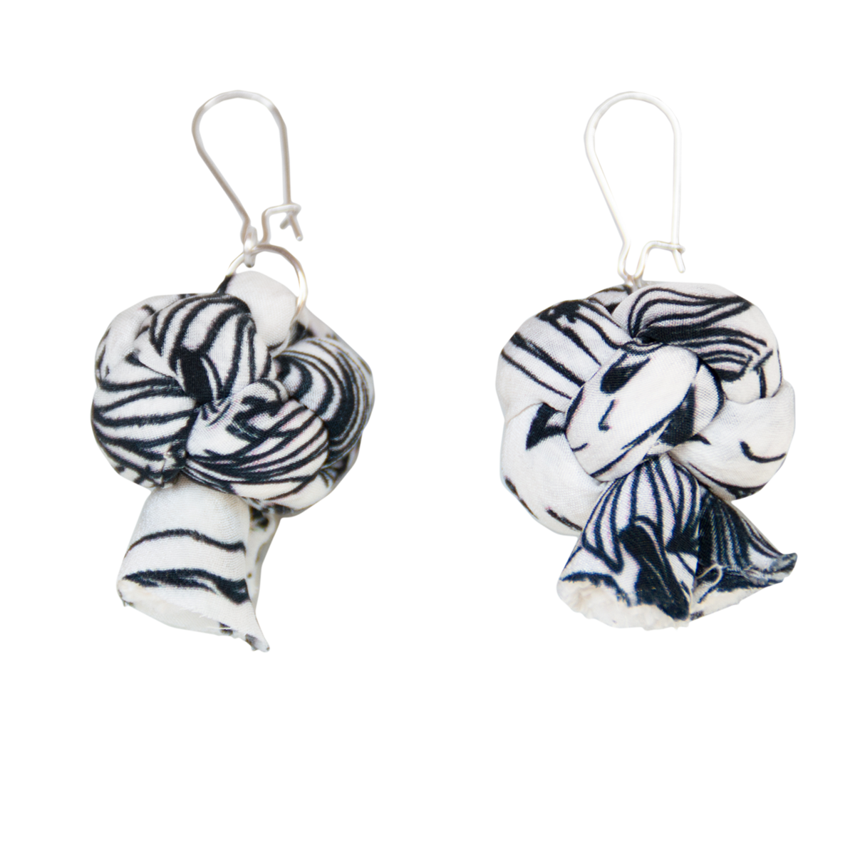 NEW Recycle silk sausage earrings - product images  of