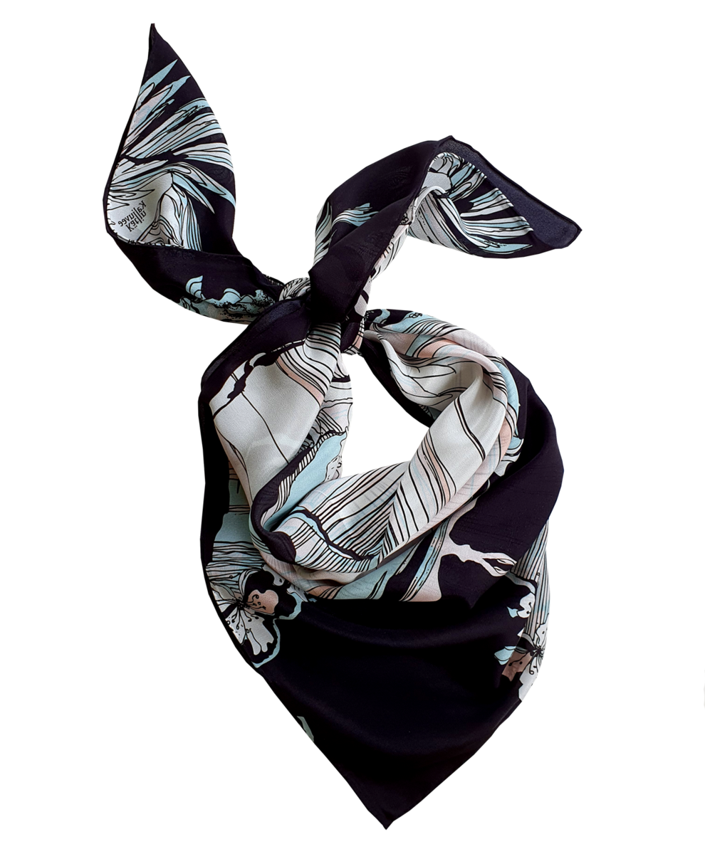 NEW WINDY GARDEN SILK SCARF - product images  of