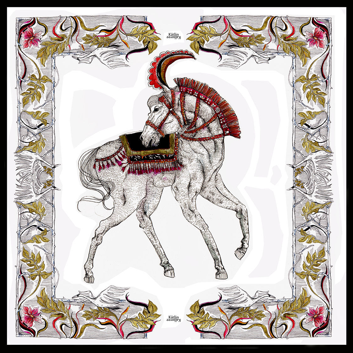 NEW SILK HORSE SCARF - product images  of