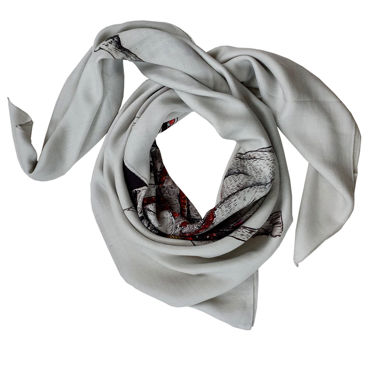 NEW HUGE WOOLEN HORSE SCARF - product images  of