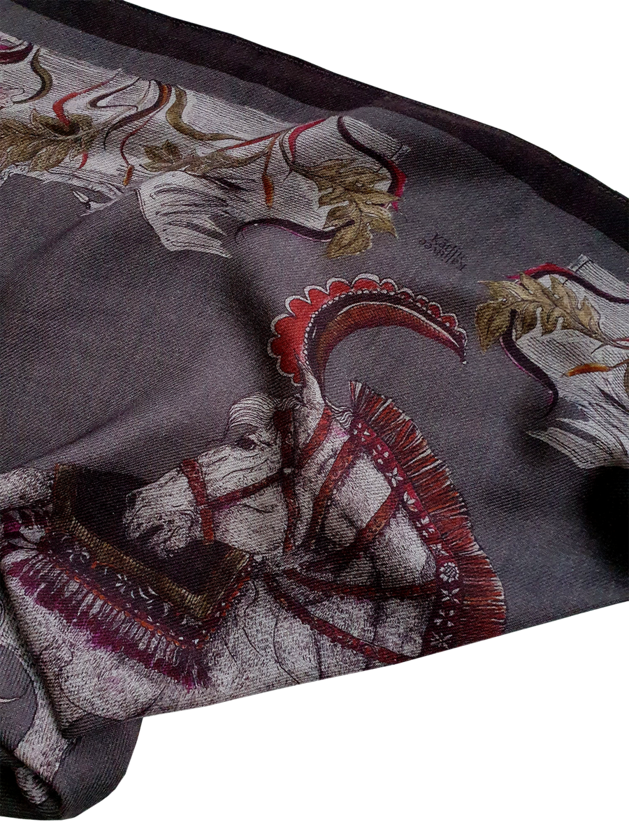 NEW WOOLEN HORSE SCARF - product images  of
