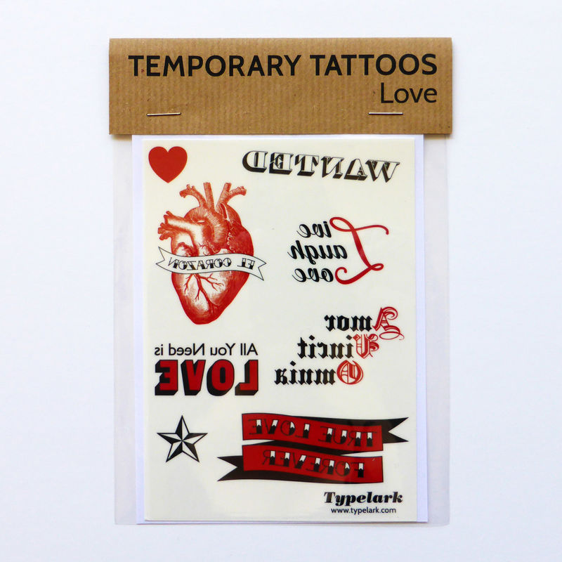 Temporary Tattoos - Love - product images  of