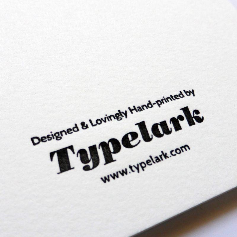 Festival Titling: Great British Type - Letterpress Typographic Card - product images  of