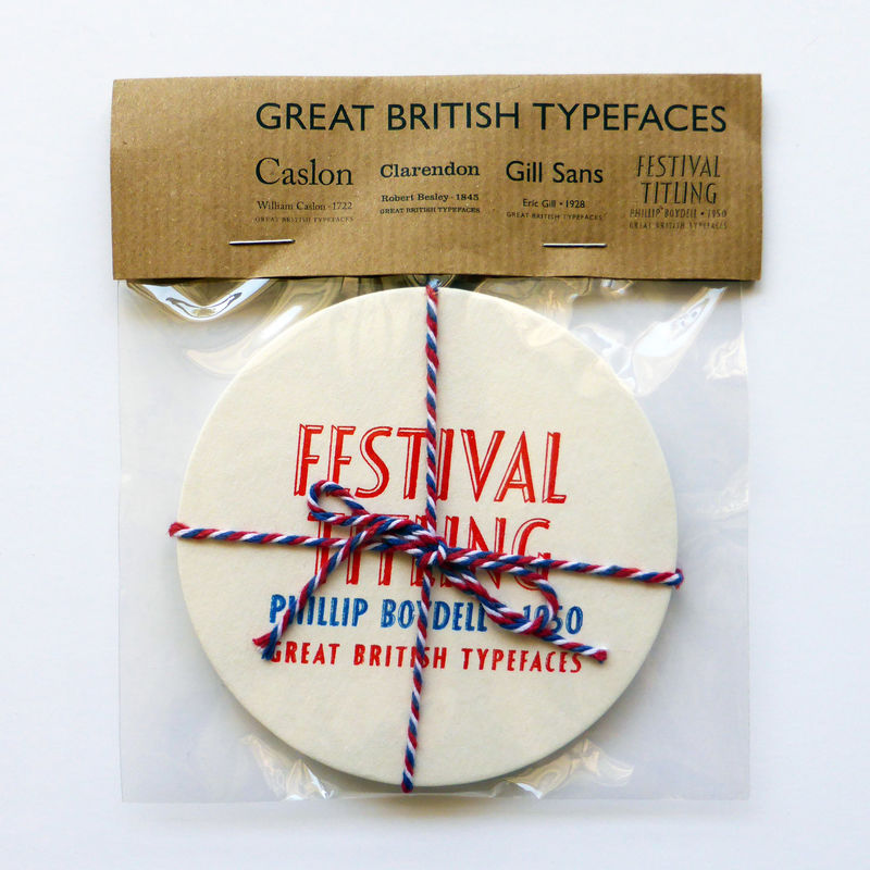 Great British Type - Letterpress Typographic Coaster Set - product images  of