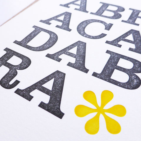 Abracadabra - Letterpress Typographic Card - product images  of