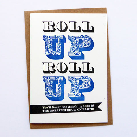 Roll,Up,-,Letterpress,Typographic,Card