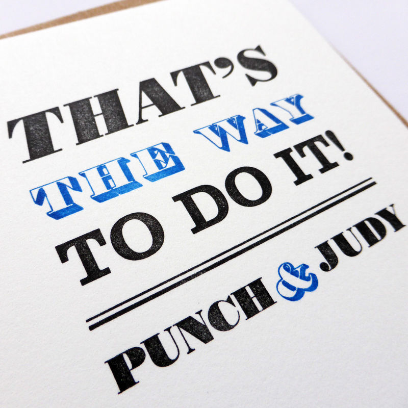 That's the Way to Do It! - Letterpress Typographic Card - product images  of