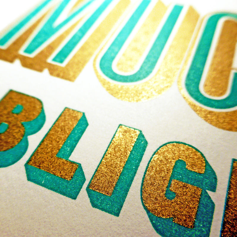 Much Obliged - Letterpress Typographic Card - product images  of