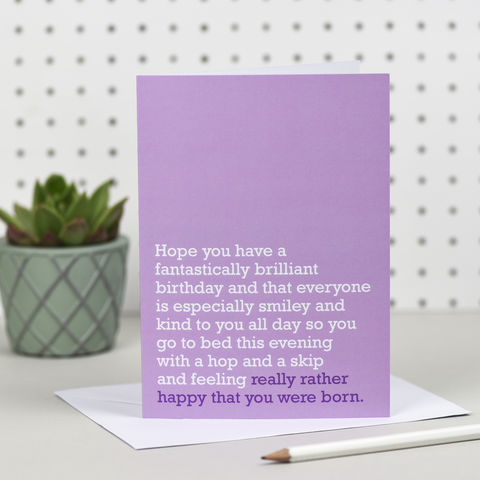 'Happy,You,Were,Born',Birthday,Card,the right lines, happy you were born, birthday cards