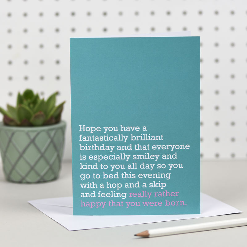 'Happy You Were Born' Birthday Card - product images  of