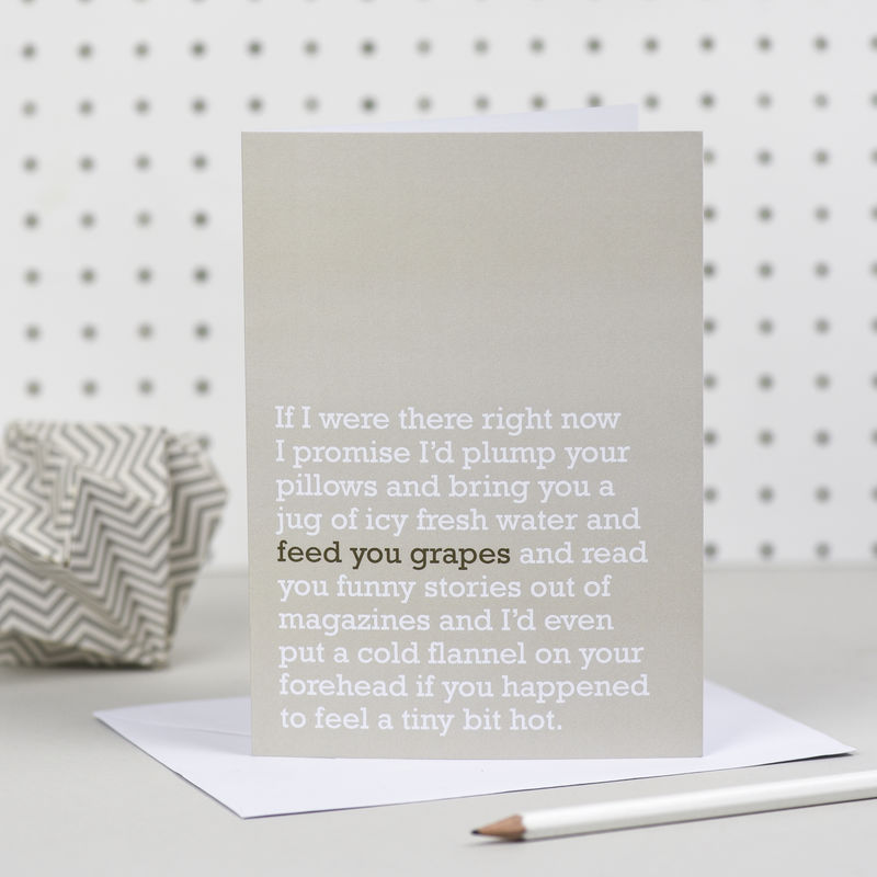 'Feed You Grapes' Get Well Card - product images  of