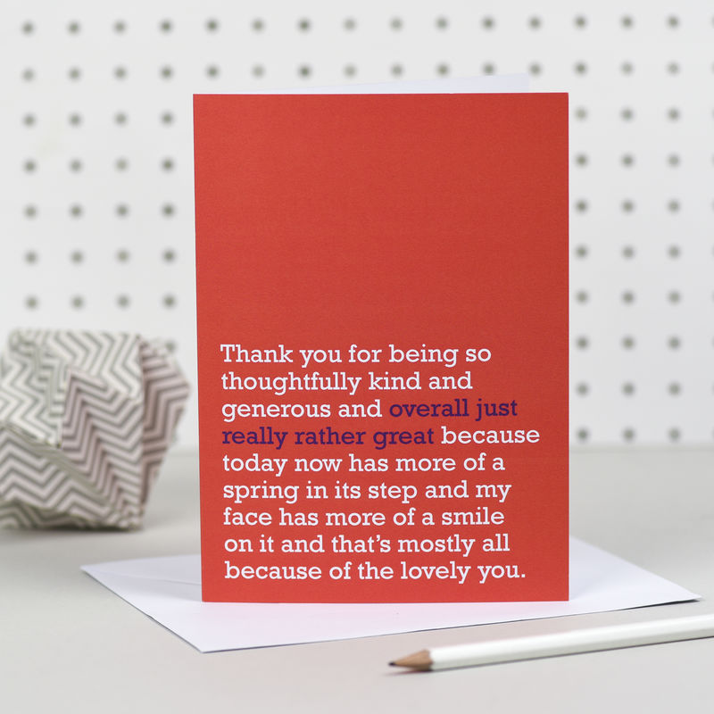 'Overall Just Really Rather Great' Thank You Card - product images  of