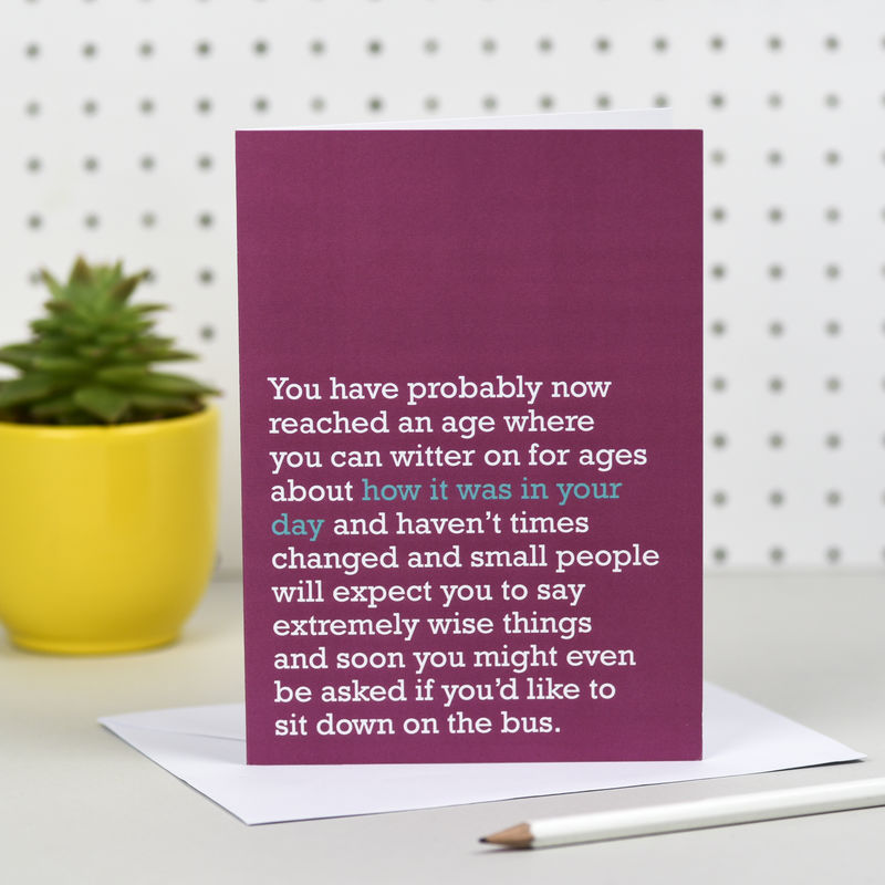 'How It Was In Your Day' Birthday Card - product images  of