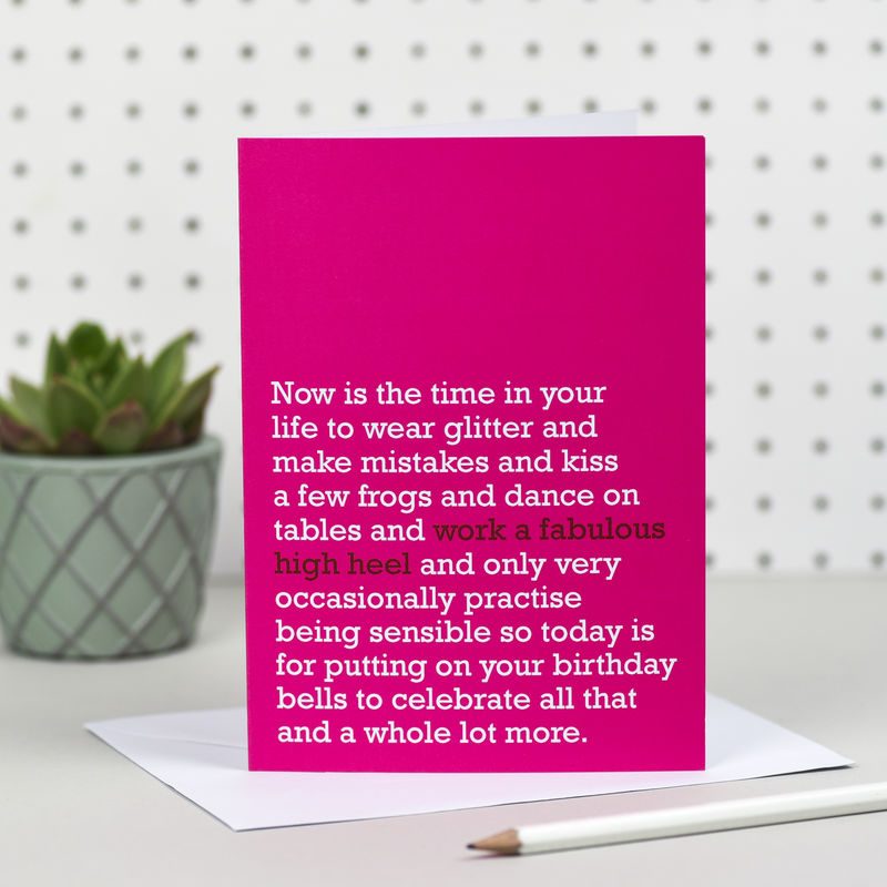 'Work A Fabulous Heel' Birthday Card - product image
