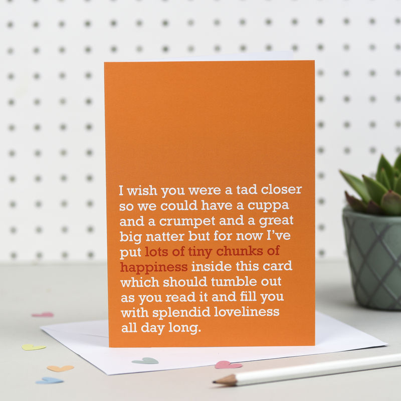 'Lots Of Tiny Chunks Of Happiness' Card - product image