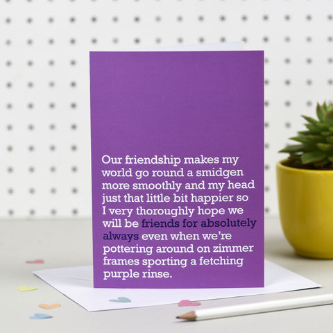 'Friends,For,Absolutely,Always',Card,right lines, friends for absolutely always, friendship cards, bff, best friends presents, cool birthday cards