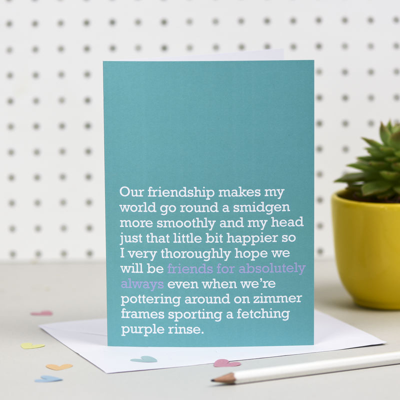 'Friends For Absolutely Always' Card - product images  of