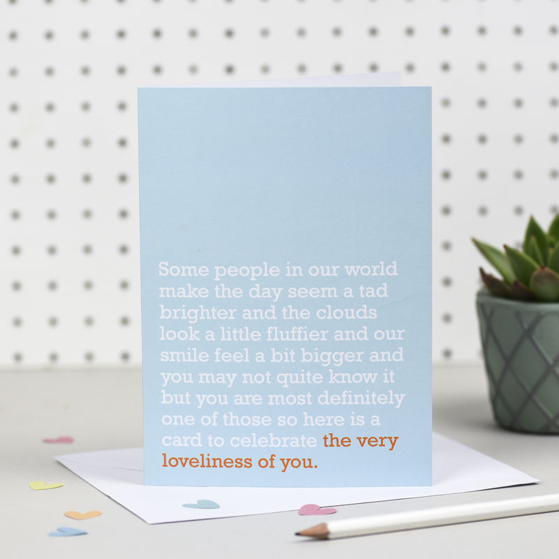 'The Very Loveliness Of You' Card - product images  of