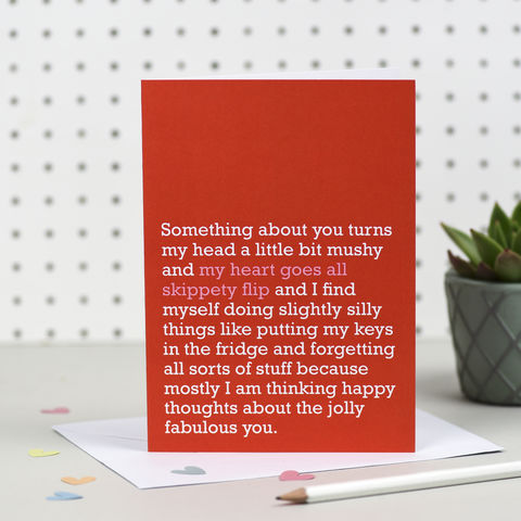 'My,Heart,Goes,All,Skippety,Flip',Card,right lines, my heart goes all skippety flip, first dates, valentine cards, romantic cards, anniversary cards, wedding, engagement