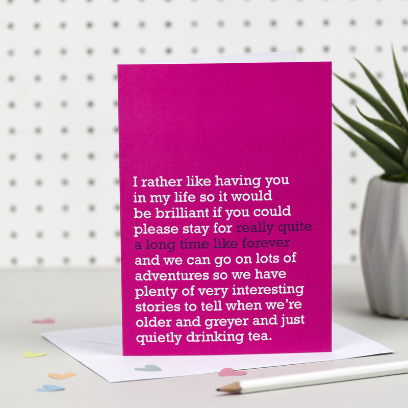 'Really Quite A Long Time Like Forever' Card - product images  of