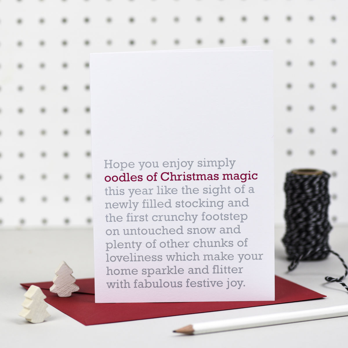 Oodles Of Christmas Magic Christmas Card The Right Lines