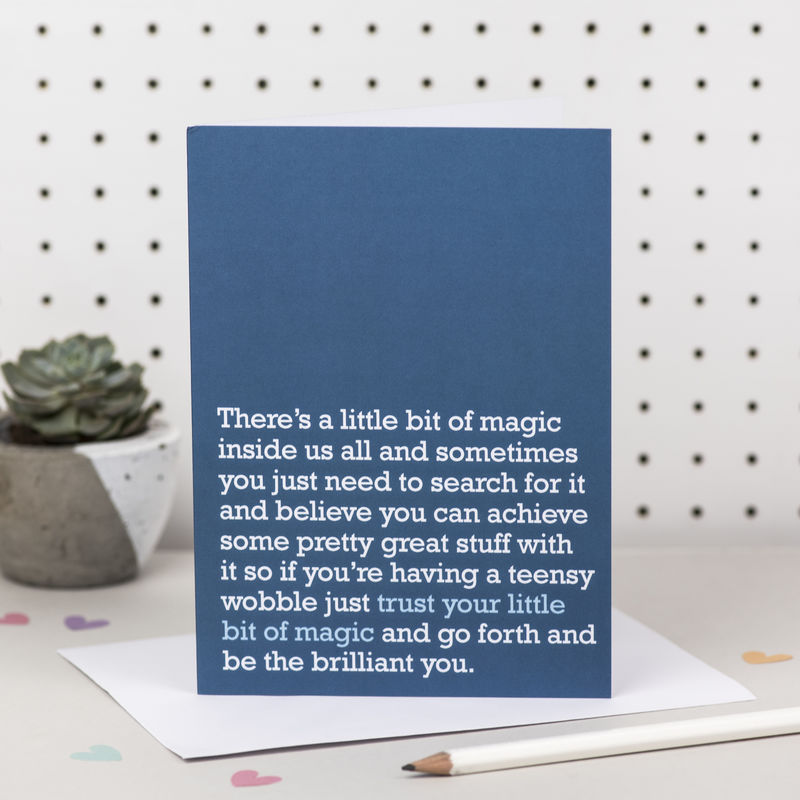 'Trust Your Little Bit Of Magic' Good Luck Card - product images  of
