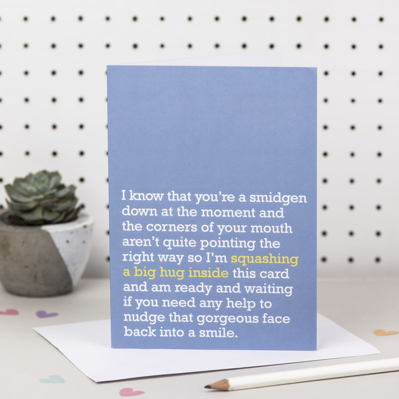 'Squashing A Big Hug Inside' Thinking Of You Card - product images  of