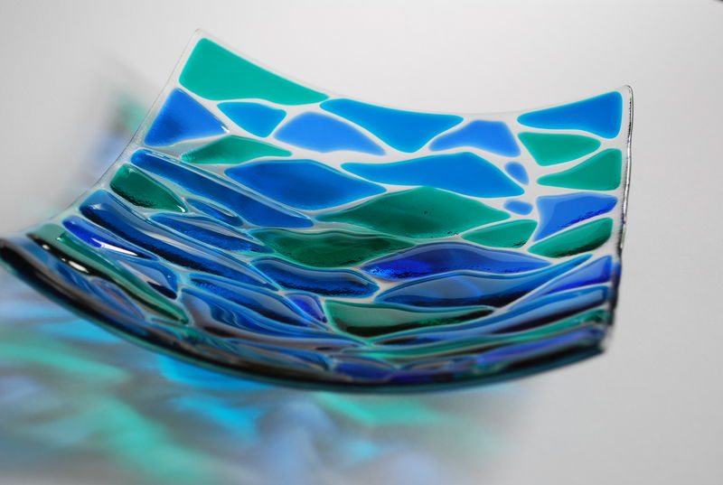 Wave - 3 colour square dish, 20X20cm - product images  of