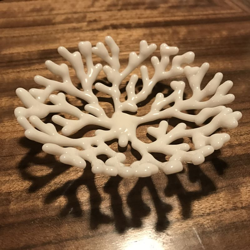 Coral - ivory small round shallow bowl - product images  of