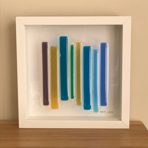 Lines,panel,-,multi,blue,Framed, line, lines, striped, stripe, stripes, panel, blue, green, yellow, purple, gift, present
