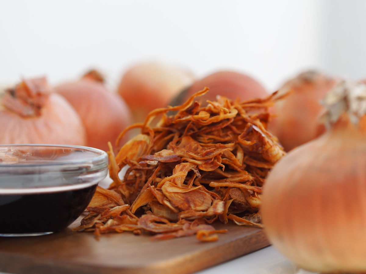 ORGANIC CRISPY ONIONS WITH TAMARI SOYA SAUCE - product images  of