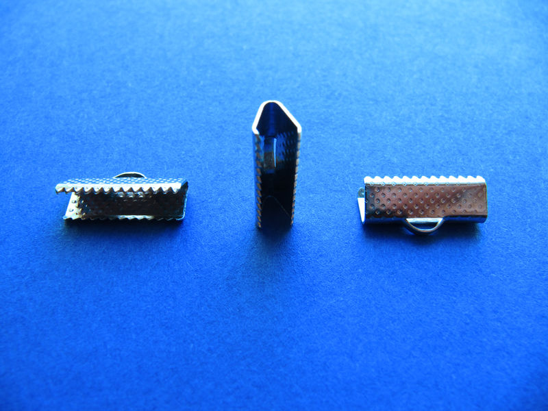 "16mm (5/8"") Ribbon Clamp End Crimps - product images  of"