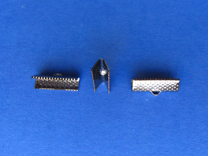 "20mm (3/4"") Ribbon Clamp End Crimps - product images  of"