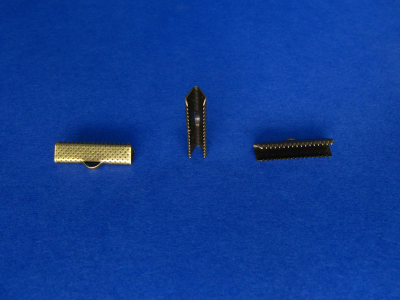 "22mm (7/8"") Ribbon Clamp End Crimps - product images  of"