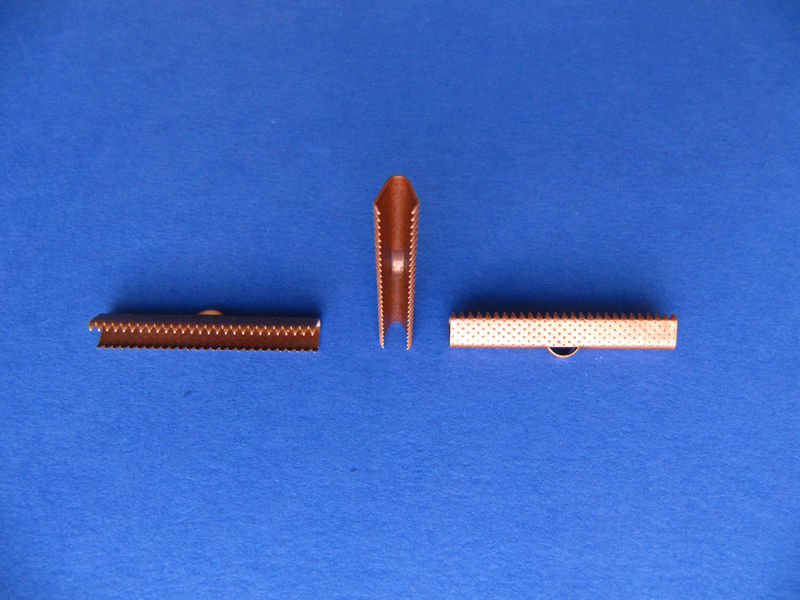 "40mm (1 9/16"") Ribbon Clamp End Crimps - product images  of"