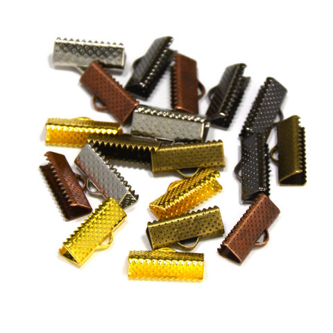 16mm,(5/8),Ribbon,Clamp,End,Crimps,16mm ribbon clamps, 5 8 ribbon clamps, ribbon clamps, ribbon crimps, ribbon ends, ribbon findings