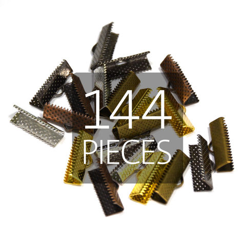 144pcs,20mm,(3/4),Ribbon,Clamp,End,Crimps,20mm ribbon clamps, 3 4 ribbon clamps, ribbon clamps, ribbon crimps, ribbon ends, ribbon findings, bulk ribbon clamps