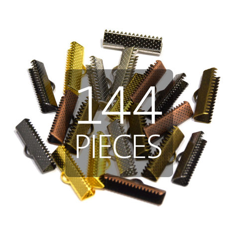144pcs,22mm,(7/8),Ribbon,Clamp,End,Crimps,22mm ribbon clamps, 7 8 ribbon clamps, ribbon clamps, ribbon crimps, ribbon ends, ribbon findings, bulk ribbon clamps